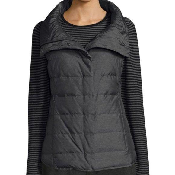 Eileen Fisher Jackets & Blazers - Eileen Fisher Nylon Puffer Vest 80/20 Down Feather